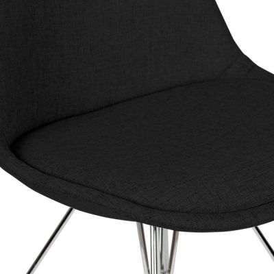 Geometric Chair Black Fabric Detail