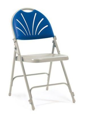 Euro Folding Chair Blue Back