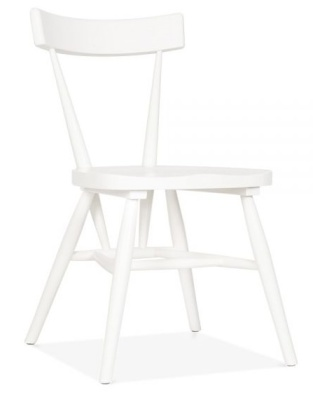 Trapeze Wooden Chair White