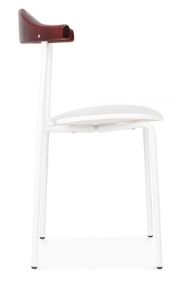 Alisa Dining Chair In White Side View