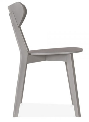 Joshua Dining Chair In Grey Side View