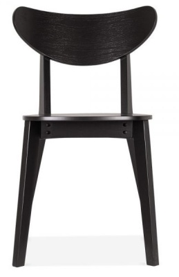 Joshua Hwiooden Dining Chair In Black Front Face View