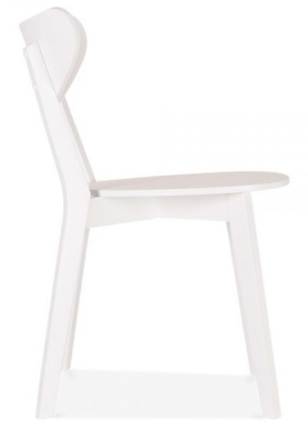 Joshua Wooden Nchair In White Side View