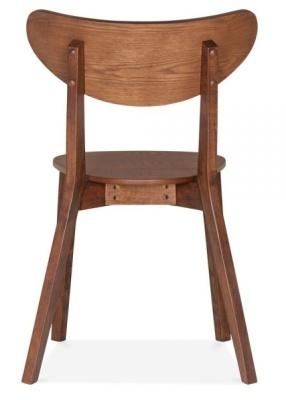 Joshua Chair In Walnut Rear View