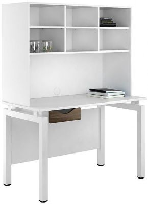 UCLIC Engage Greflections Desk With Single Drawer And Overhead Storage