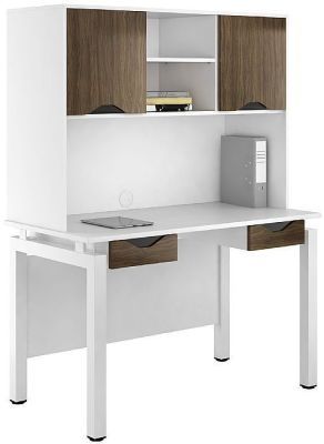 UCLIC Engage Double Drawer Desk And Overhead Cupboards