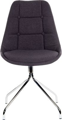 Metz Four Star Chair Graphite Fabric Front Face