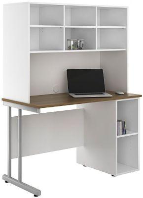 Uclic Create Sylvan Desk With Desk Base Unit And Overhead Shelving 1