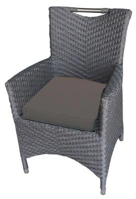 San Juan Rattan Armchair With Brown Seat Cushion