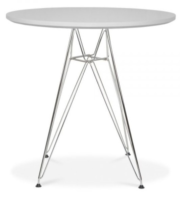 Eames Dsr Table With A Light Grey Top 2