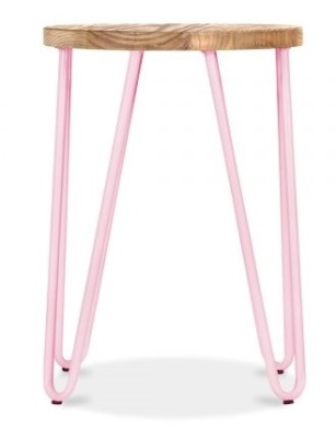 Hairpin Low Stool With A Peppermint Frame 2