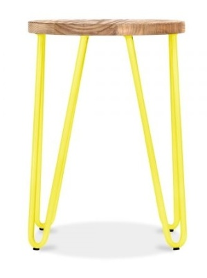 Hairpin Low Stool With A Yellow Frame 2