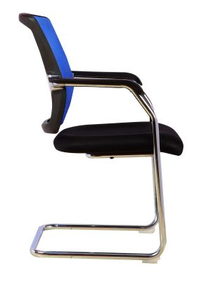 Regatta Chair Blue Mesh Side View