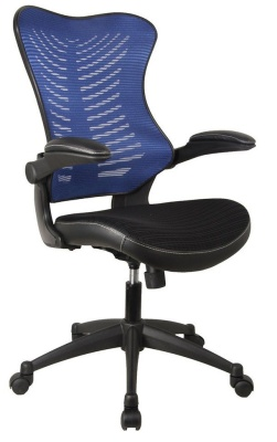 Santos Mesh Jtask Chair With A Blue Mesh Back