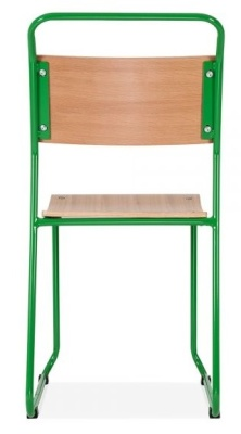 Bauhakus Chair With A Green Frame Rear View
