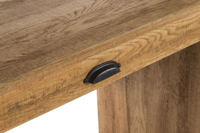 Paignton Sctribed Oak Desk Detail 1