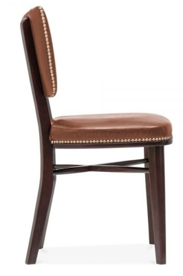 Chicago Brown Leather Dining Chairs 4