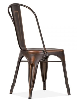 Xavver Pauchard Chair With An Antique Copper Fionish Rear Angle