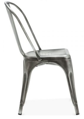 Xavier Pauchard Side Chair Antique Silver Finish