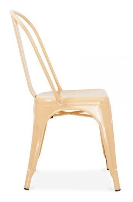 Xavier Pauchard Chair In Peach Side View