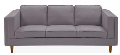 Eddie Three Seater Sofa In Smokey Grey