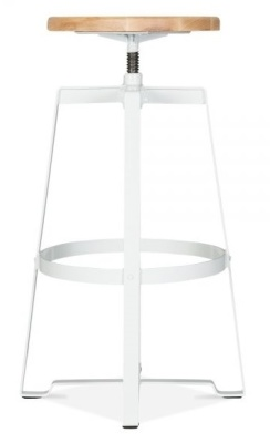 Vortex Machinist High Stool In White 3