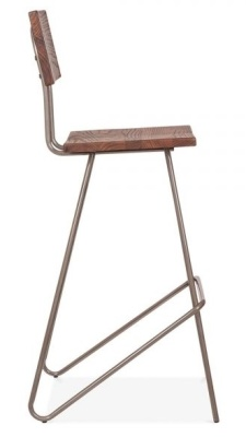 Urban Hairpin High Stool With A Gun Metaln Frame Side View