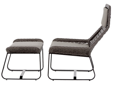 Compton Lounge Chair And Footstool 2