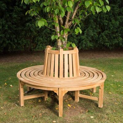 Exmouth Full Round Tree Bench Mood Shot