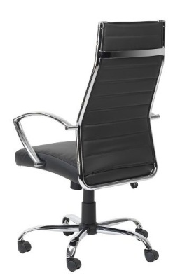 Conquest Black Leather Exective Chair Rear Angle