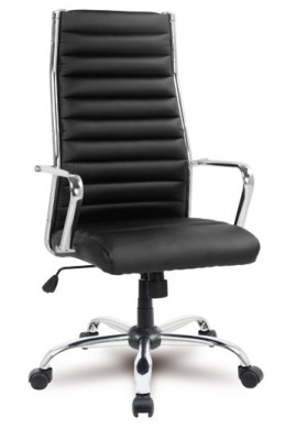 Conquest Black Leather Executive Chair Front Angle