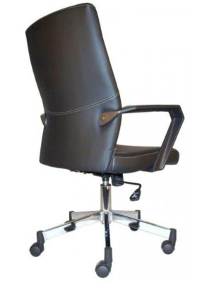 Mercos Black Leather Executive Chair Rear Angle