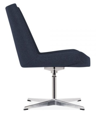 New Jersey Lounge Chair In Blue Side View