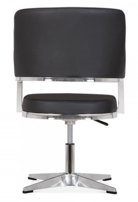 Polar Chair In Black Leather Rear View