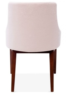 Jolly Dining Chair In Pastel Pink Rear View
