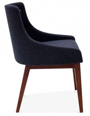 Joly Dining Chair In Dark Grey Side View