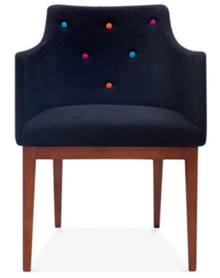 Jolly Black Designer Armchair Front View