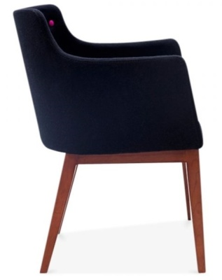 Jolly Black Designer Armchair Side View
