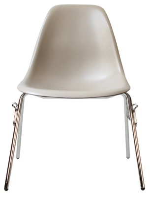 Eames Dss Chair In Beige Front View