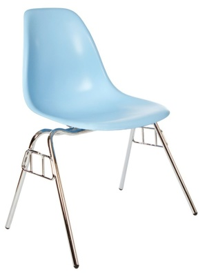 Eanmes Dss Chair In Light Blue Front Angle