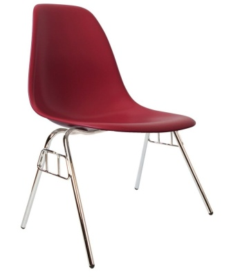 Eames Dss Chair In Burgundy Angle Shot