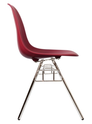 Eames Dss Chair In Burgundy Side View