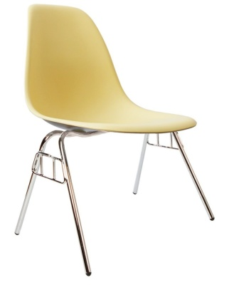 Eames Dss Chair In Cream Front Angle