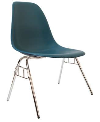 Eames Dss Chair In Teal Angle View
