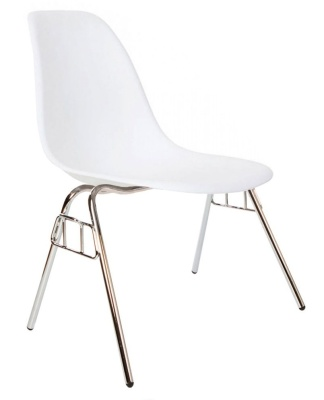 Eames Dss Chair In White Angle View