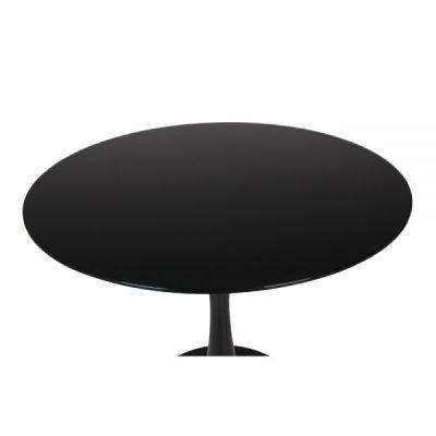 Tu;ip Black Glass Table