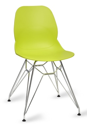 Mackie Chair With A Pyramid Frame Lime Green