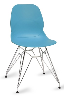 Mackie Chair With A Pyramid Frame In Turquoise