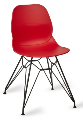 Mackie Pyramisd Chair Red Shell Black Frame