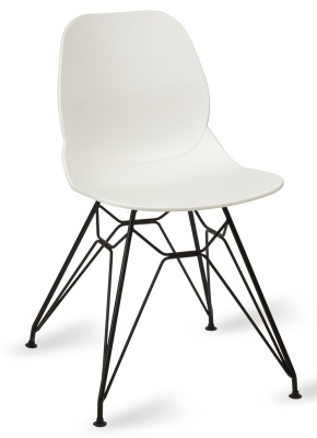 Mackie Pyromad Chair White Shell Black Frame